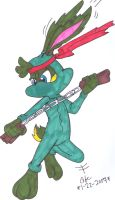 Ninja Jazz Jackrabbit by spongefox