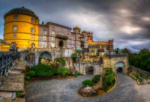 Pena National Palace - the gates by roman-gp