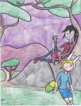Marshall Lee and Fionna by Camila-Andromeda
