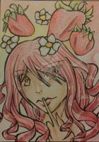 Aceo #5 Strawberry by Faymala