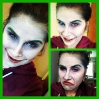 Harley's Joker Make Up Test. by Jordee11