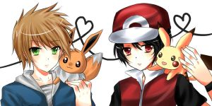 PKMN Red and Green by Illycia