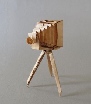 Antique Folding Camera by Cahoonas