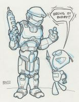 Master Chief and GIR by vonholdt