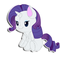 Rarity plushie by hikariviny
