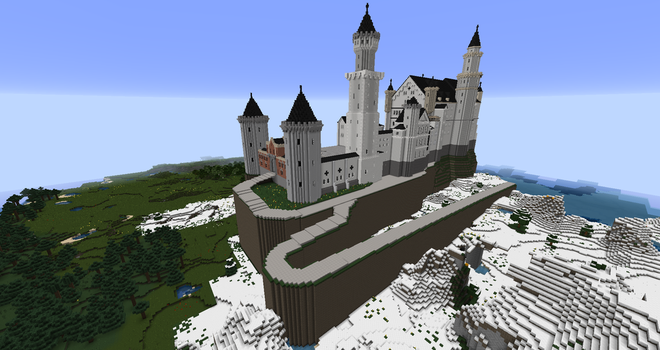 Minecraft - Neuschwanstein Castle by MinecraftArchitect90
