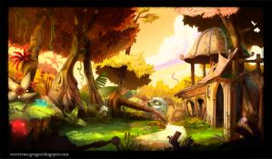 Background concept 2d side scrolling by rastafic