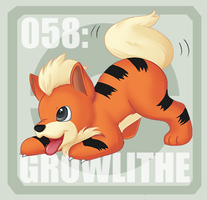 058 Growlithe by Pokedex