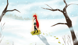Shana in the Snow by K1nji