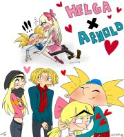 Arnold x Helga Collage by MishiMishiLove