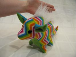 Spring Pudgy Rainbow Dragon Plushie by SPPlushies