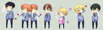 AN09 - Ouran Stickers by Kioushan