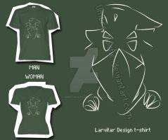 Larvitar line T-shirt by UmbreoNoctie