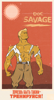 POPTAGE DOC SAVAGE by paintmarvels
