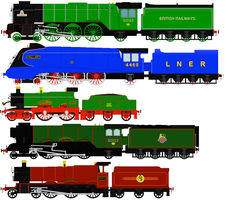 The 5 famous British engines by RyanBrony765