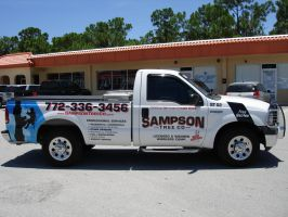 Sampson Tree Co Sales Truck by steveclaus