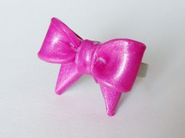 Obnoxiously Pink Ribbon Ring by FrozenNote