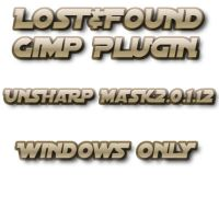 Lost+Found Gimp UnsharpMask2 by photocomix-resources