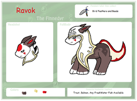 Ravok the Finnedyr Reference Sheet by Dianamond