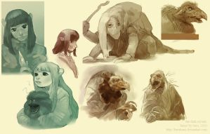 Dark Crystal sketches by Barukurii