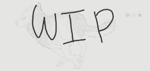 Running wolf (WIP) by XsilverdawnwarriorX