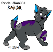 pup for cloudlion324 by wolfluver67