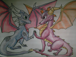 spyro and cynder in love by shadowhatesomochao