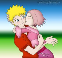 NaruSaku - Kiss by natichan94