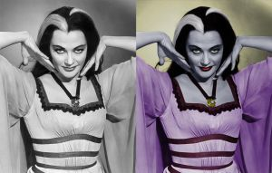 Lily Munster - before after by B-D-I
