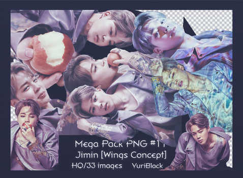Mega Pack PNG #11 -  Jimin of BTS [Wings Concept] by YuriBlack