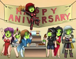 5th Group Anniversary OC Party by MaskedWander