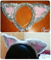 Cat ears - made by me by nyaomeimei