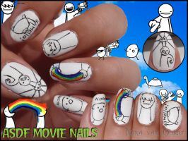 asdf movie nails by Ninails