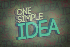 One Simple Idea by walking-on-air