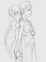 elven loove sketch by tigrelustre316
