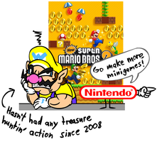 Wario doesn't get the gold by ShyGuyXXL