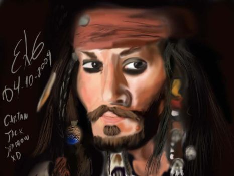 jack sparrow primer dibujo by Guasonchileno