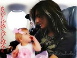 Bill Kaulitz and a baby girl by LaxBilly89Kaulitzhou
