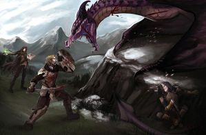 Ledgendary fight by Serpentwined