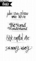 4 FONTS by feelthecolours