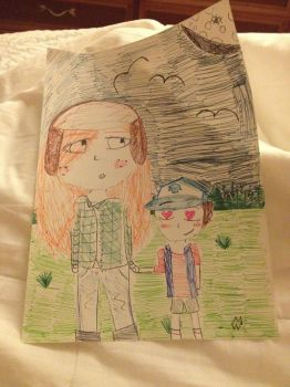 Wendy and Dipper's Walk in the Park by DiamondDawn37