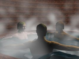 3 men in in a tub by kalimon