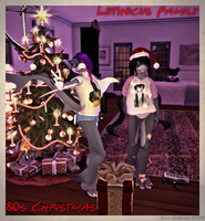 Jayce and Laylah - 80s Christmas - Second Life by Jace-Lethecus
