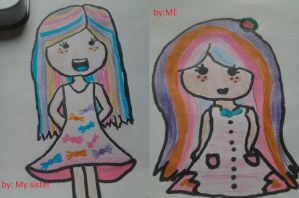 Which one looks better? by cottoncloudyfilly