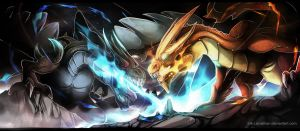 Mega Charizard X and Y by Ink-Leviathan