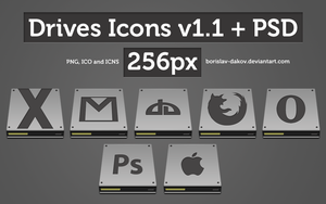 Drives Icons v1.1 + PSD by borislav-dakov