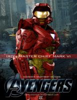 Video Game Avengers Iron Master Chief Fan Art 2.0 by rs2studios