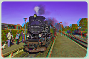 Steam Train 3D ::: HDR Anaglyph Stereoscopy by zour