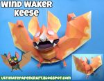 Wind Waker Keese Papercraft by squeezycheesecake