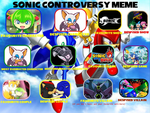 Sonic The Hedgehog Controversy Meme by Hexidextrous
